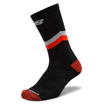 New Balance Brooklyn Half Sock, Black with Red