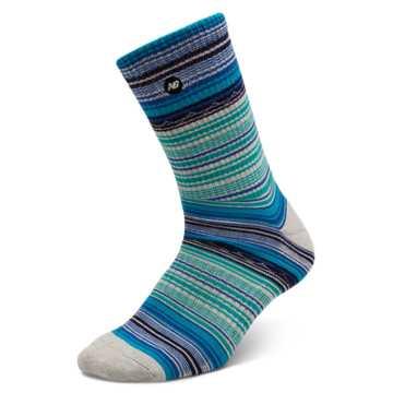 New Balance Stripe Crew 1 pair, Black with Blue
