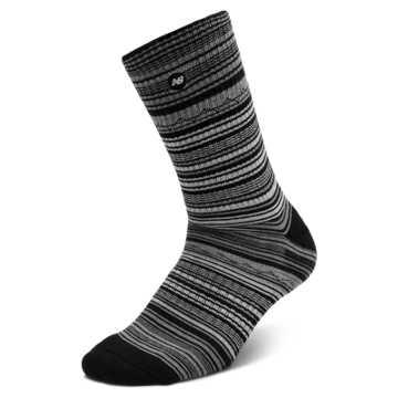 New Balance Stripe Crew 1 pair, Black with Grey