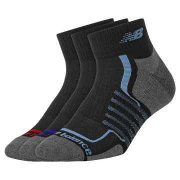 New Balance Performance Ankle 3 pack, Black Multi