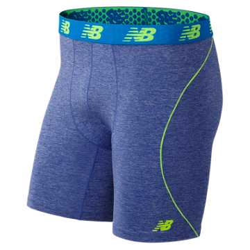 New Balance NB Flex Boxer Brief 1 Pair, Marine Heather