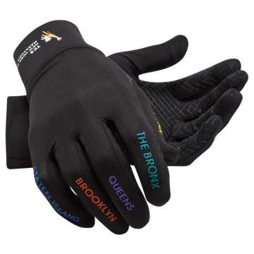 New Balance NYC Marathon Lightweight Glove, Black