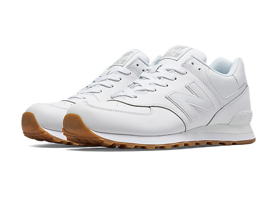 new balance 574 leather gum