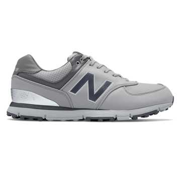 New Balance Golf Leather 574, Grey with Silver