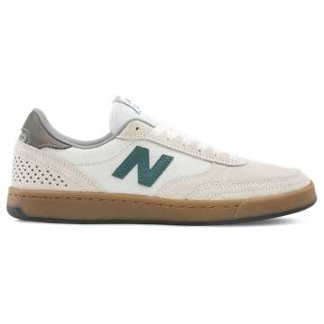 New Balance 440, Sea Salt with Forest Green