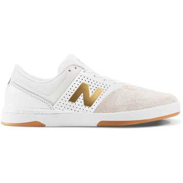 New Balance PJ Ladd 533 v2, White with Sea Salt & Gold