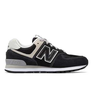 New Balance 574 Core, Black with Grey