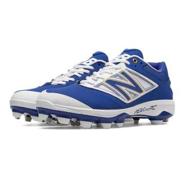 New Balance Low Cut 4040v3 TPU Molded Cleat, Royal Blue with White