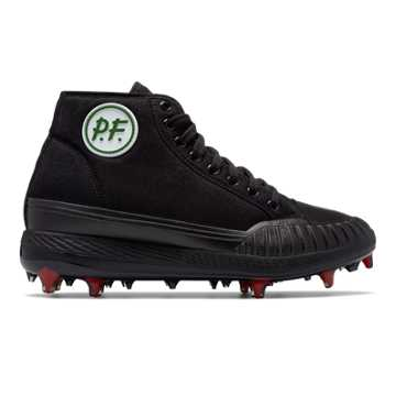 New Balance Sandlot Center Hi Composite Cleat, Black with Red