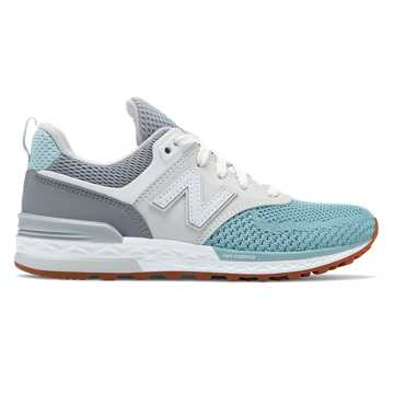 New Balance 574 Sport, Gunmetal with Storm Blue