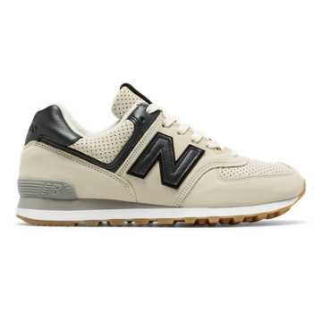 New Balance 574 Metallic, Dark Grey with Sea Salt
