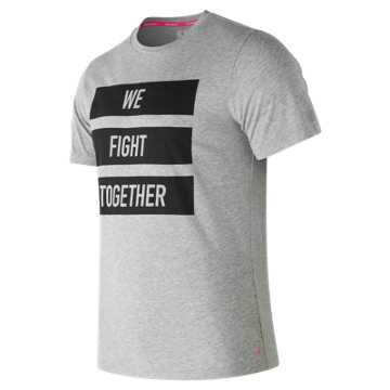 New Balance Pink Ribbon Heather Tech NB Graphic Short Sleeve, Heather Grey