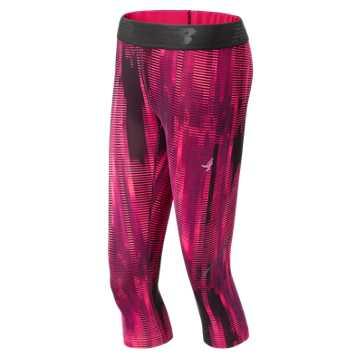New Balance Pink Ribbon Accelerate Capri, Alpha Pink