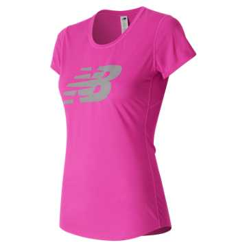 New Balance Pink Riboon Graphic Accelerate Tee, Alpha Pink
