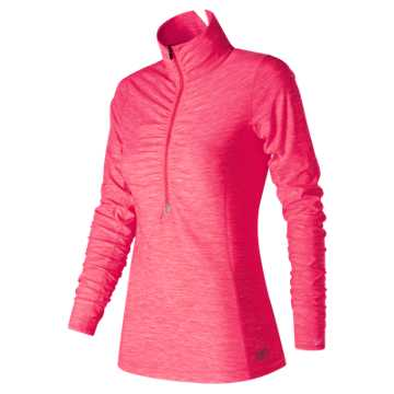 New Balance Pink Ribbon In Transit Half Zip, Alpha Pink Heather