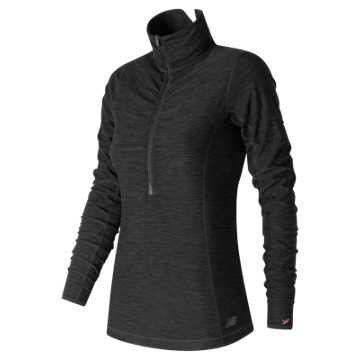 New Balance Pink Ribbon In Transit Half Zip, Black