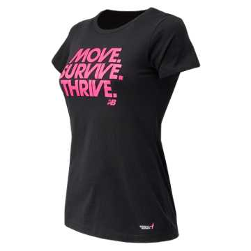 New Balance Pink Ribbon Survive Tee, Black