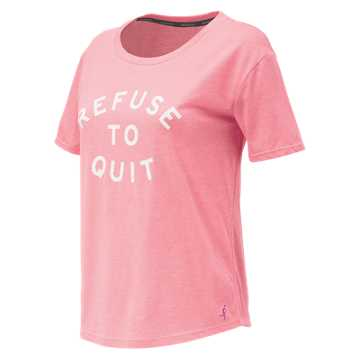 New Balance Pink Ribbon Heather Tech Graphic Tee, Alpha Pink Heather