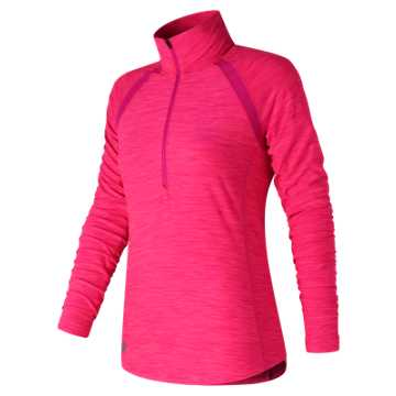 New Balance Pink Ribbon Anticipate Half Zip, Pink Glo