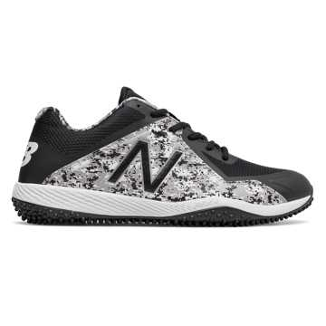 New Balance Turf Pedroia 4040v4, Black with Camo Green