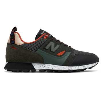 New Balance Trailbuster Re-Engineered Textile, Forest Green with Orange