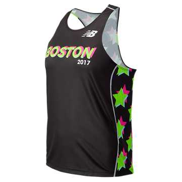 New Balance Boston Singlet, Black Multi
