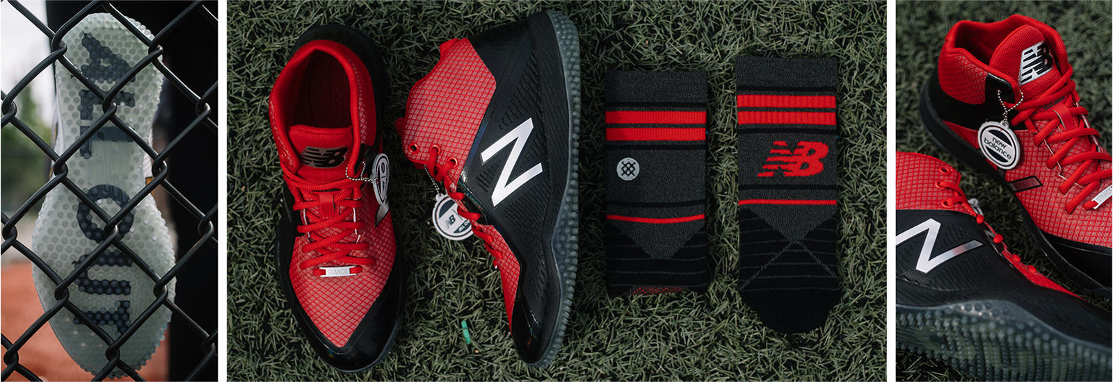 New Balance New Balance x Stance Turf 4040v4, Black with Red