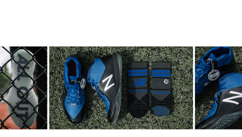 New Balance New Balance x Stance Turf 4040v4, Black with Royal Blue