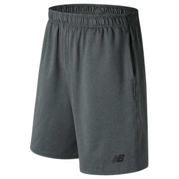 New Balance Baseball Tech Short, Dark Heather Grey