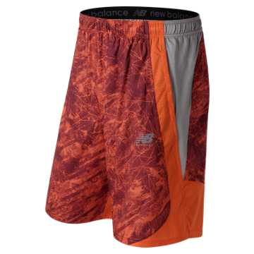 New Balance LAX Freeze Printed Short, Team Orange