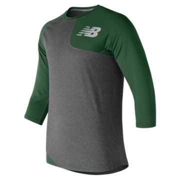 New Balance Baseball Asym Base Layer Left, Team Dark Green