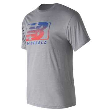 New Balance Pro Stock 5050 Tee, Heather Grey
