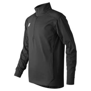 New Balance Jr Solid Half Zip, Team Black