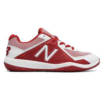 new balance youth cleats. new balance turf 4040v4, red with white youth cleats a