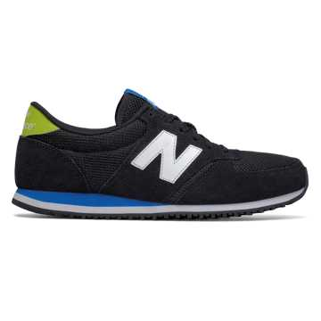 New Balance 420 New Balance, Black with Bright Laser Blue
