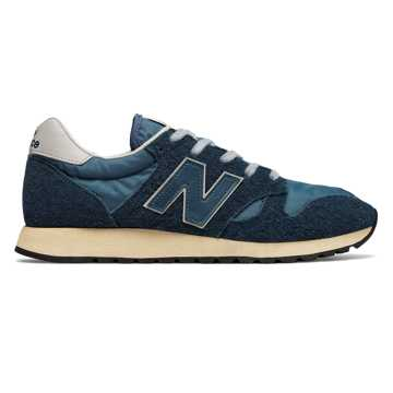 New Balance 520 Hairy Suede, Mallard Blue with Blue Wing Teal