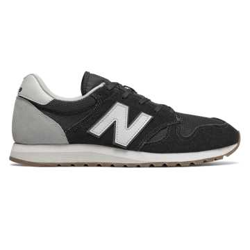 New Balance 520系列复古鞋, 黑色/浅灰