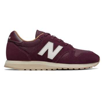 New Balance 520, Burgundy with Brown Sugar