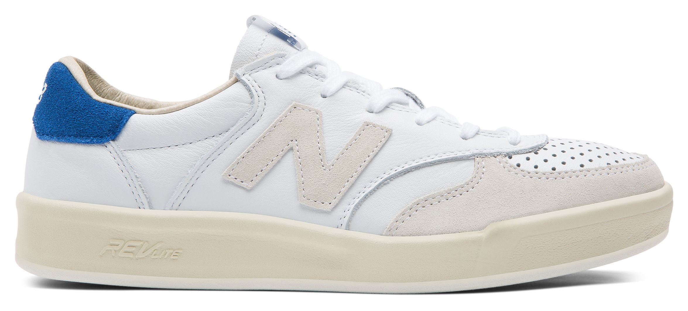 NB 300 Leather, Plaster White