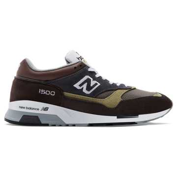 New Balance 1500 Made in UK, Brown with Grey & Military Green