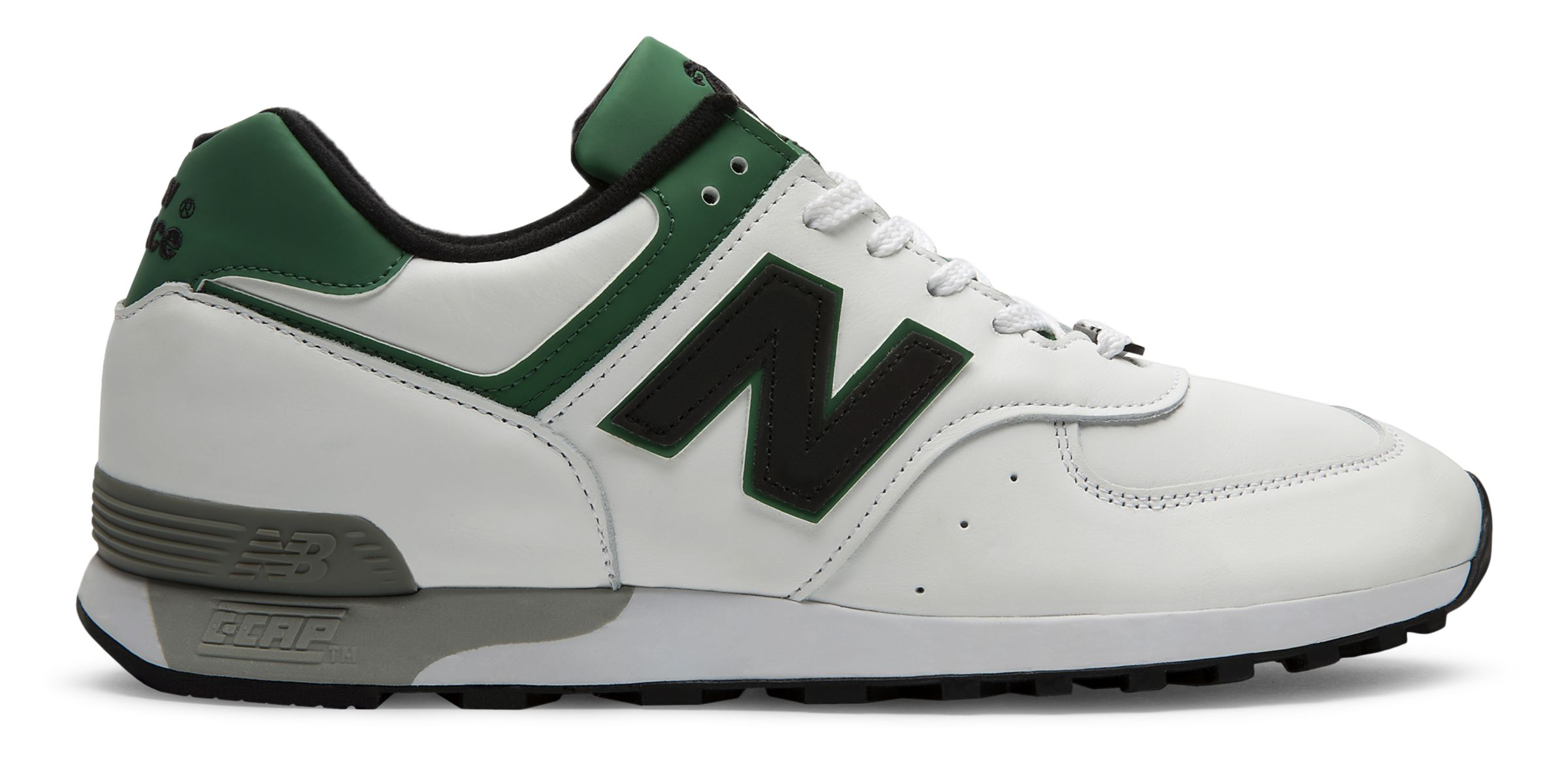 NB 576 Made in UK LFC, White with Green & Black