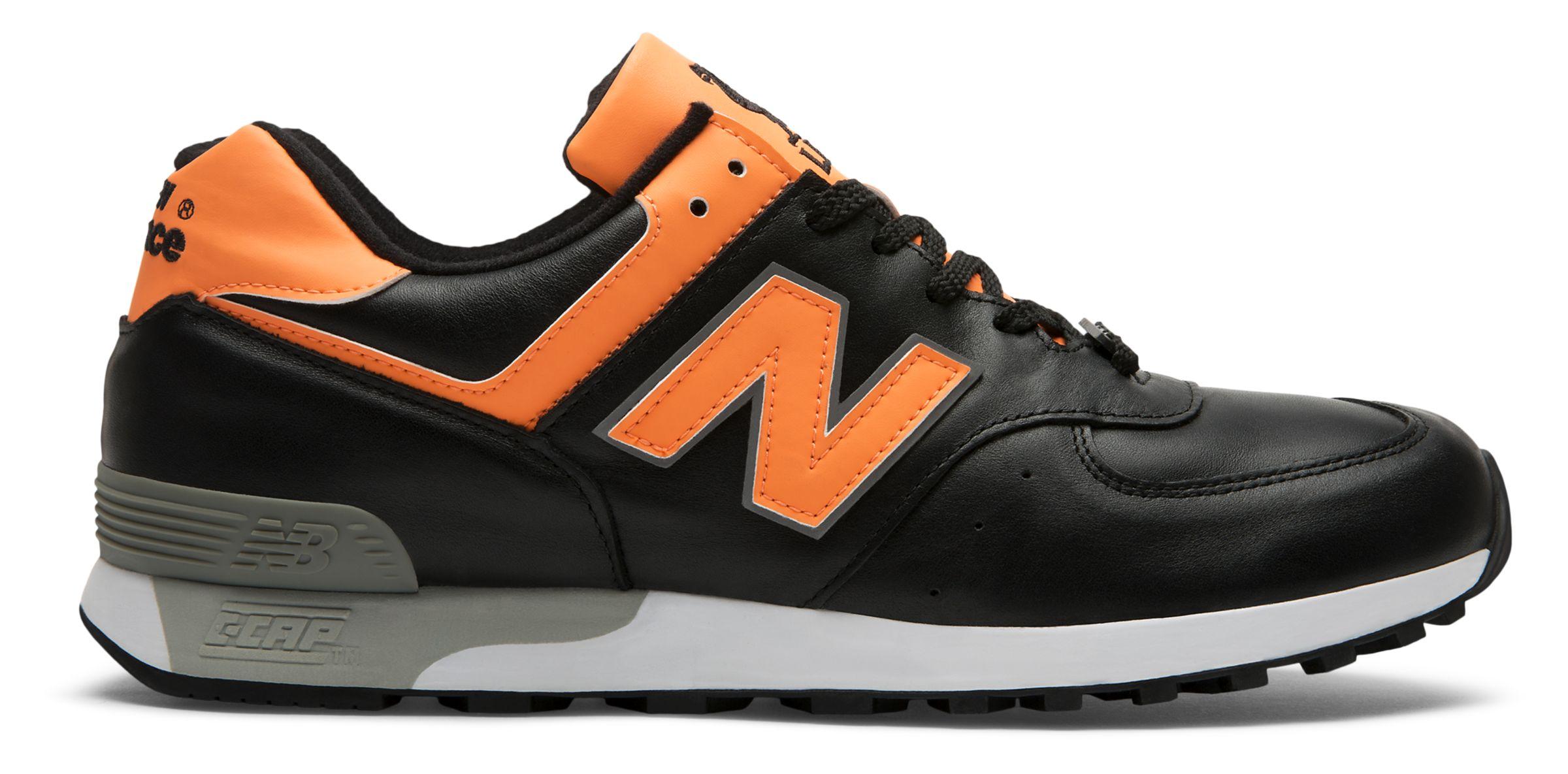 NB 576 Made in UK LFC, Black with Orange & Grey