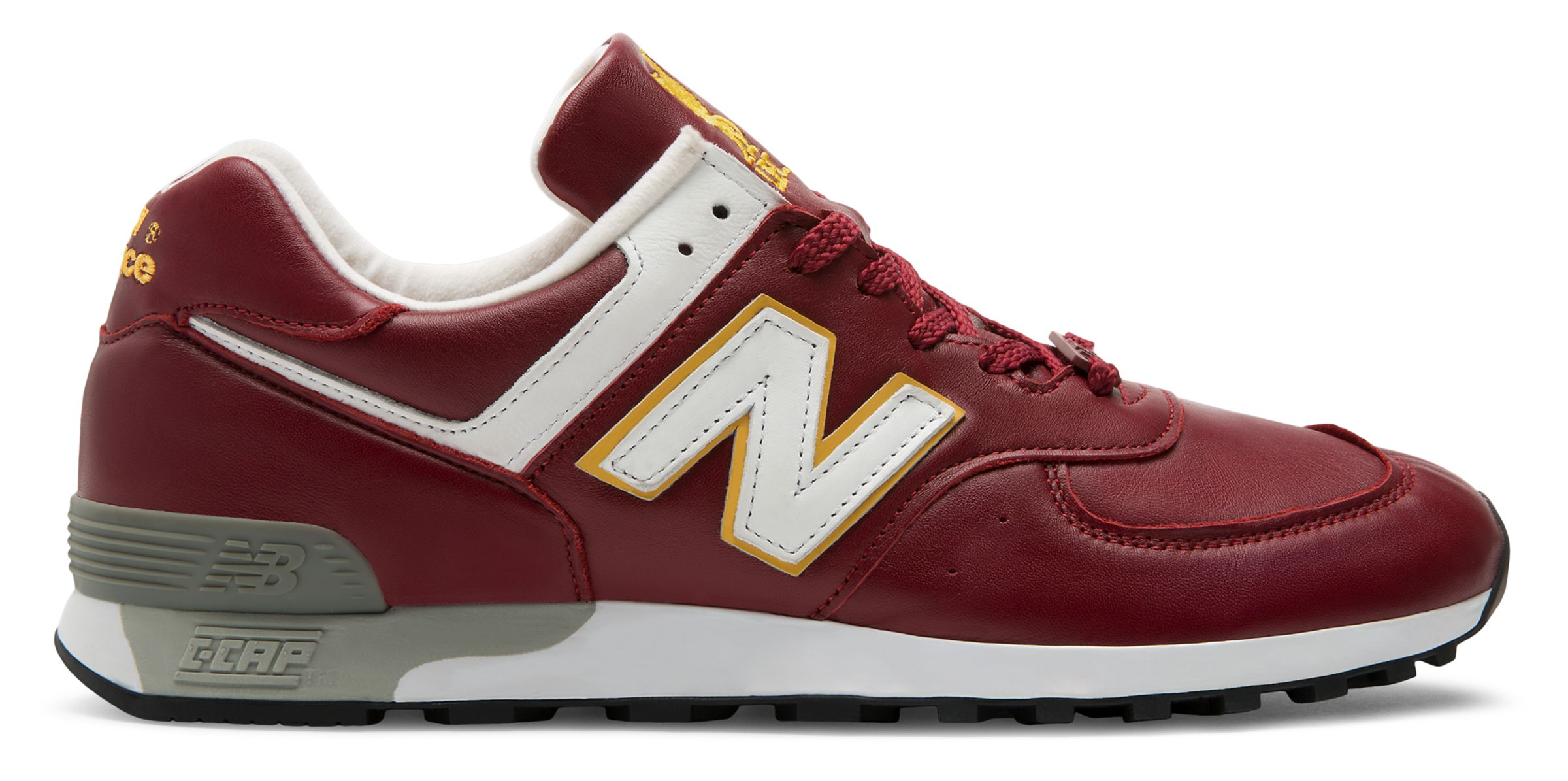 NB 576 Made in UK LFC, Burgundy with Yellow & White