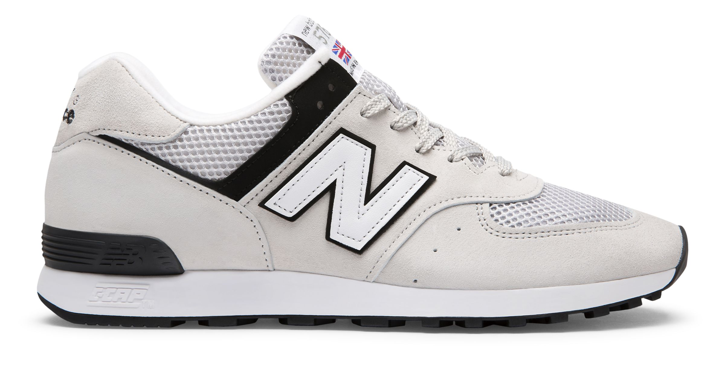 NB 576 Made in UK, Light Grey with Black & White