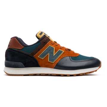 New Balance 576 Made in UK Yard, Navy with Orange & Teal