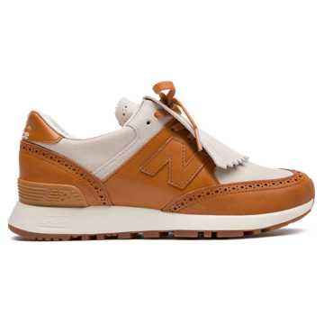 New Balance Grenson x New Balance 576, Off White with Camel