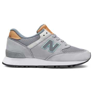 New Balance 576 Made in UK Nubuck, Light Grey with Dusty Blue