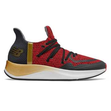 "New Balance 中国年Cypher系列新年限量款 ""招财进宝""男女同款跑步鞋 运动潮流, 红色/黑色"