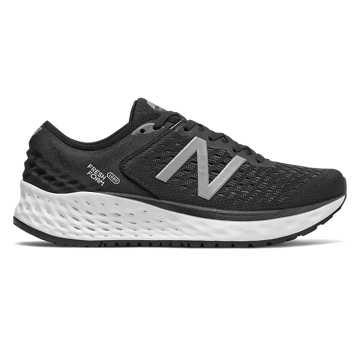New Balance Fresh Foam 1080 女鞋 稳定舒适 缓震透气, 黑色