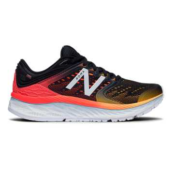 New Balance Fresh Foam 1080 女鞋 稳定舒适 缓震透气, 黑色/红色